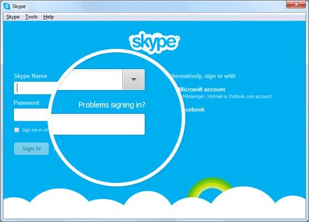 skype problems signing in