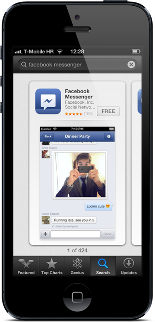 App store FB messenger