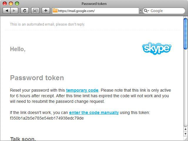 skype mail