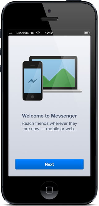 FB messenger welcome
