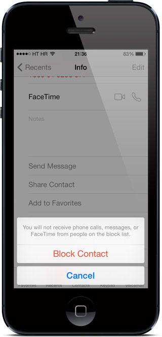 iphone blokiranje kontakata