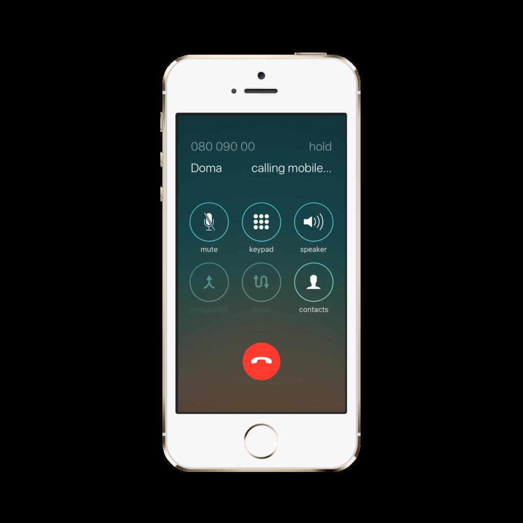 Konferencijski poziv iPhone