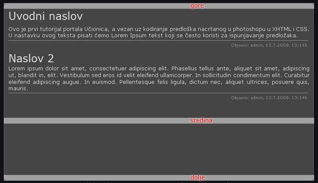 PSD u XHTML i CSS 11