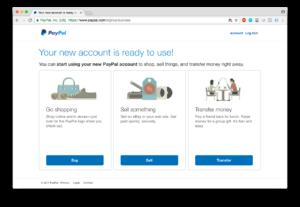 PayPal registracija - potvrda registracije