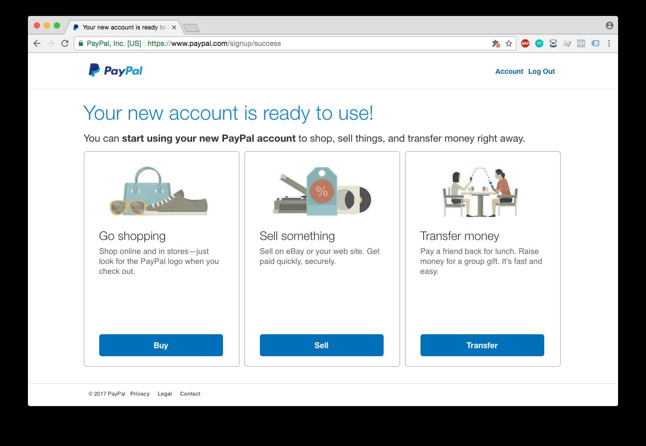 paypal račun