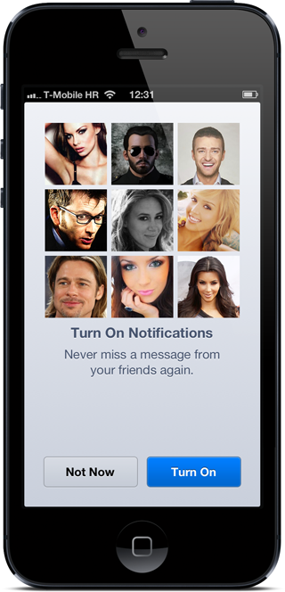 FB messenger notifications