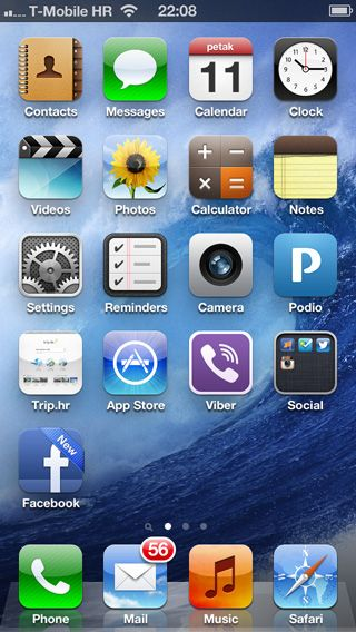 iphone facebook icon