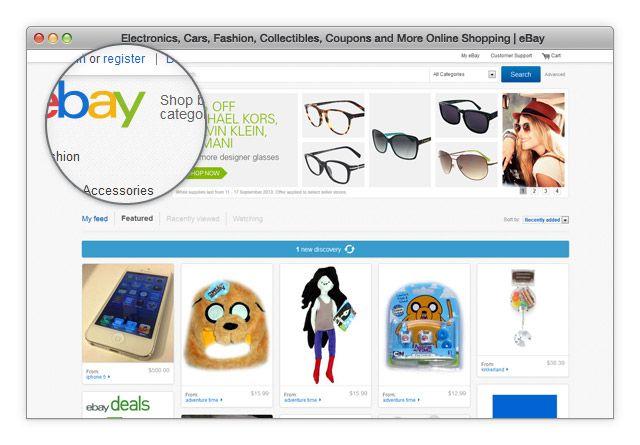 eBay registracija