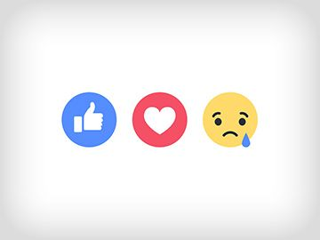 Facebook Reactions: recite to slikom