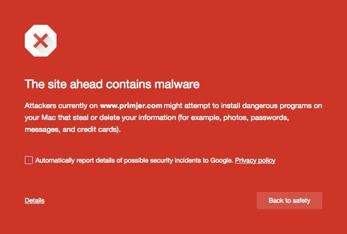 wp hacked notification
