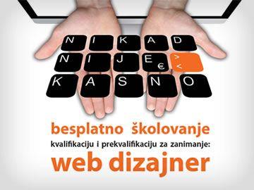 Nikad nije kasno – besplatno školovanje za zanimanje Web Dizajner