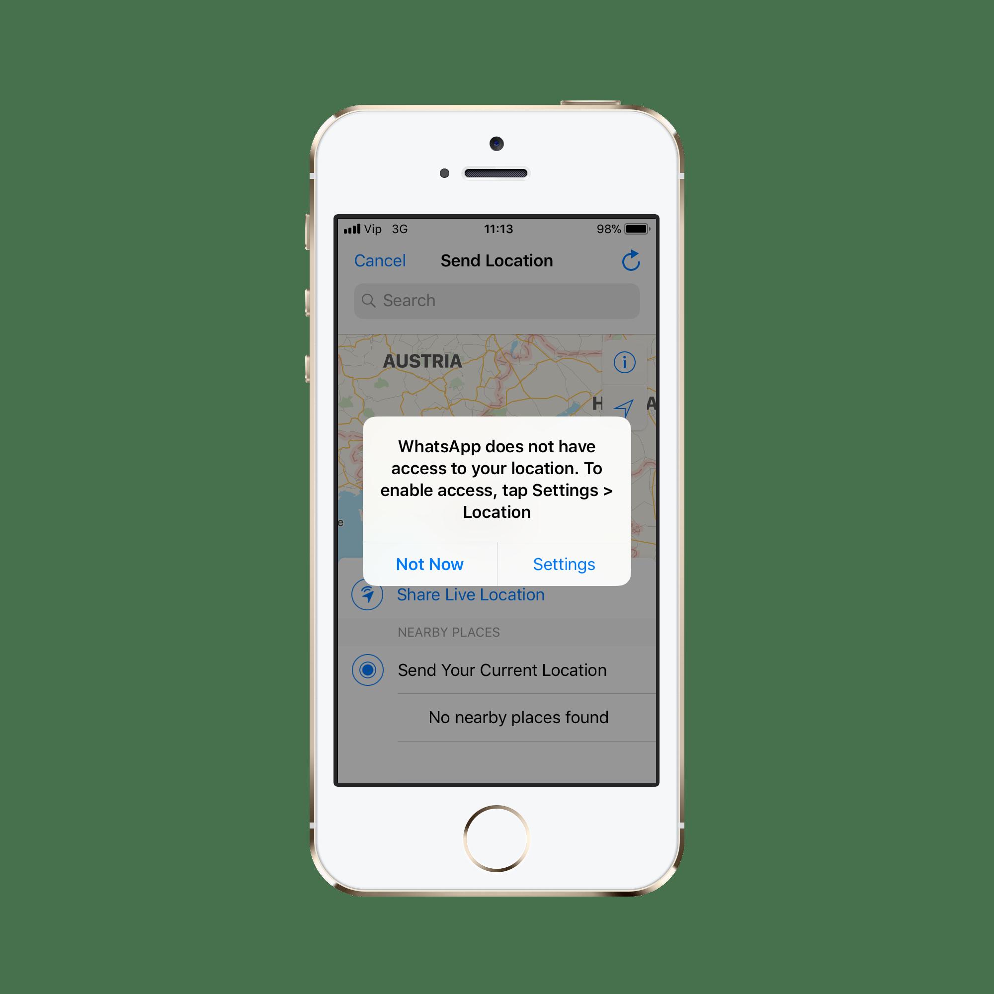 lokacija za aplikaciju za iPhone