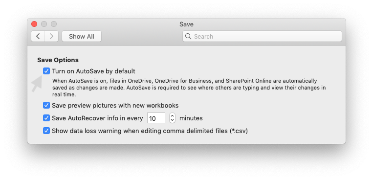 How to turn off AutoSave in Excel 2019 for Mac in 3 steps