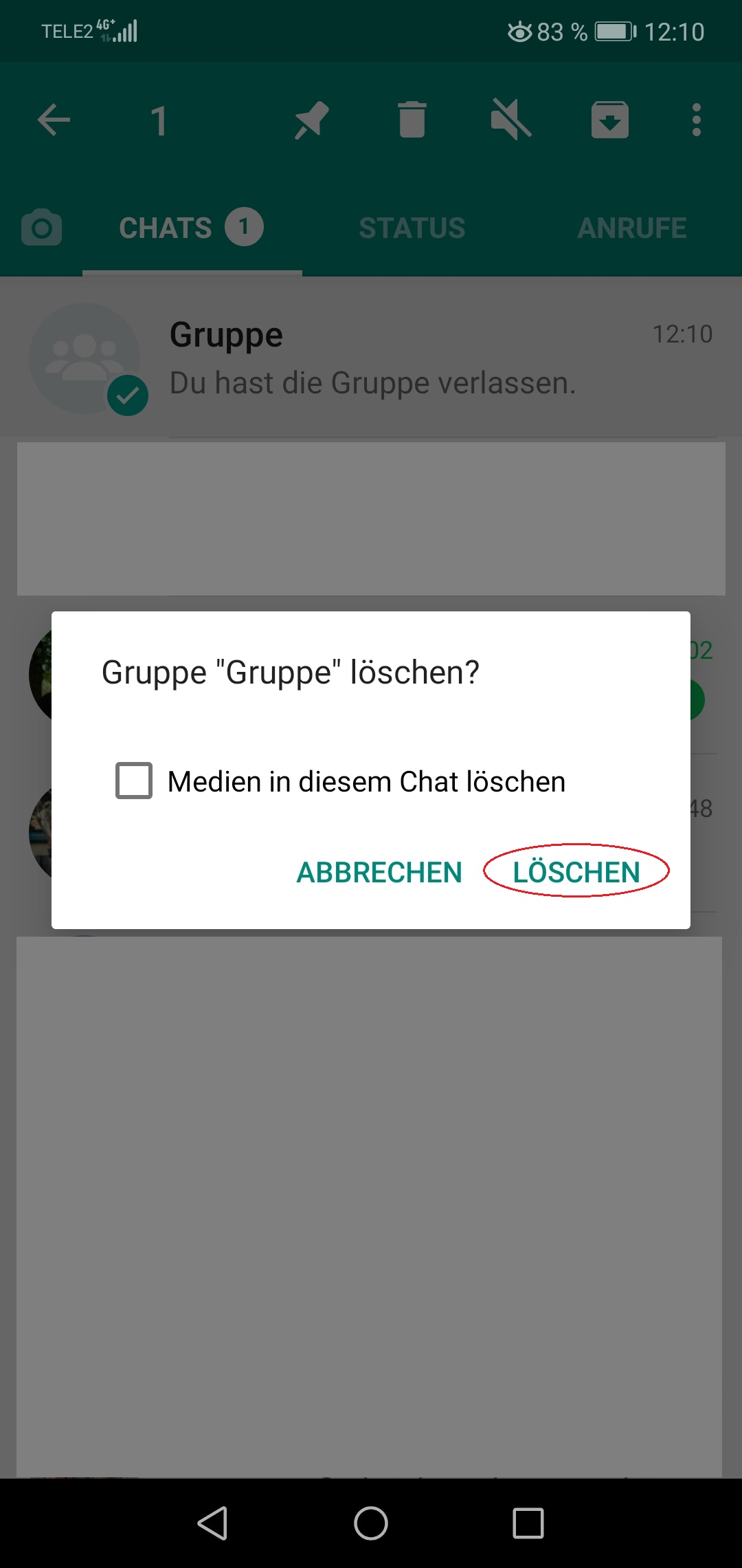 Whatsapp Gruppe Löschen Android